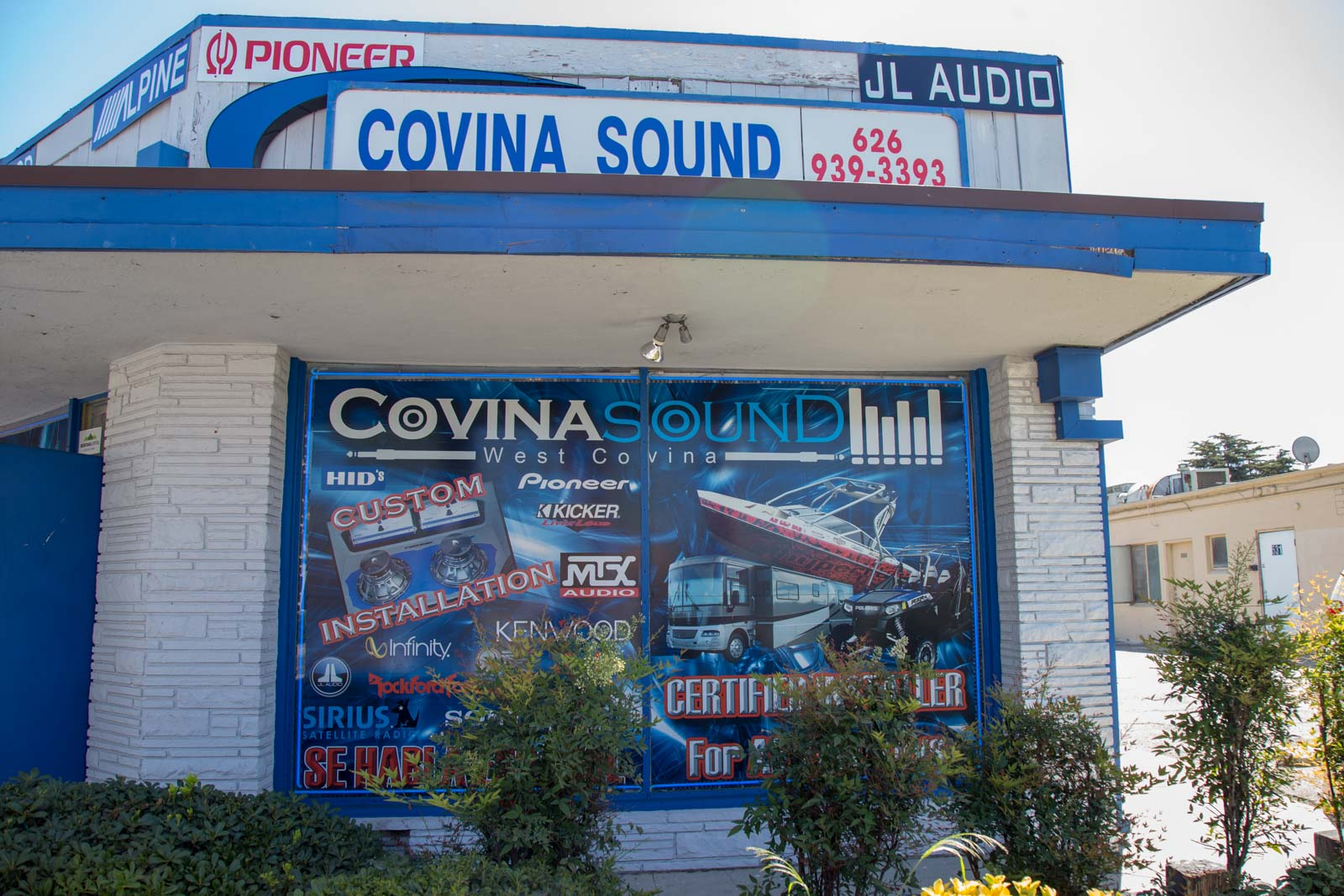 Covina Sound storefront
